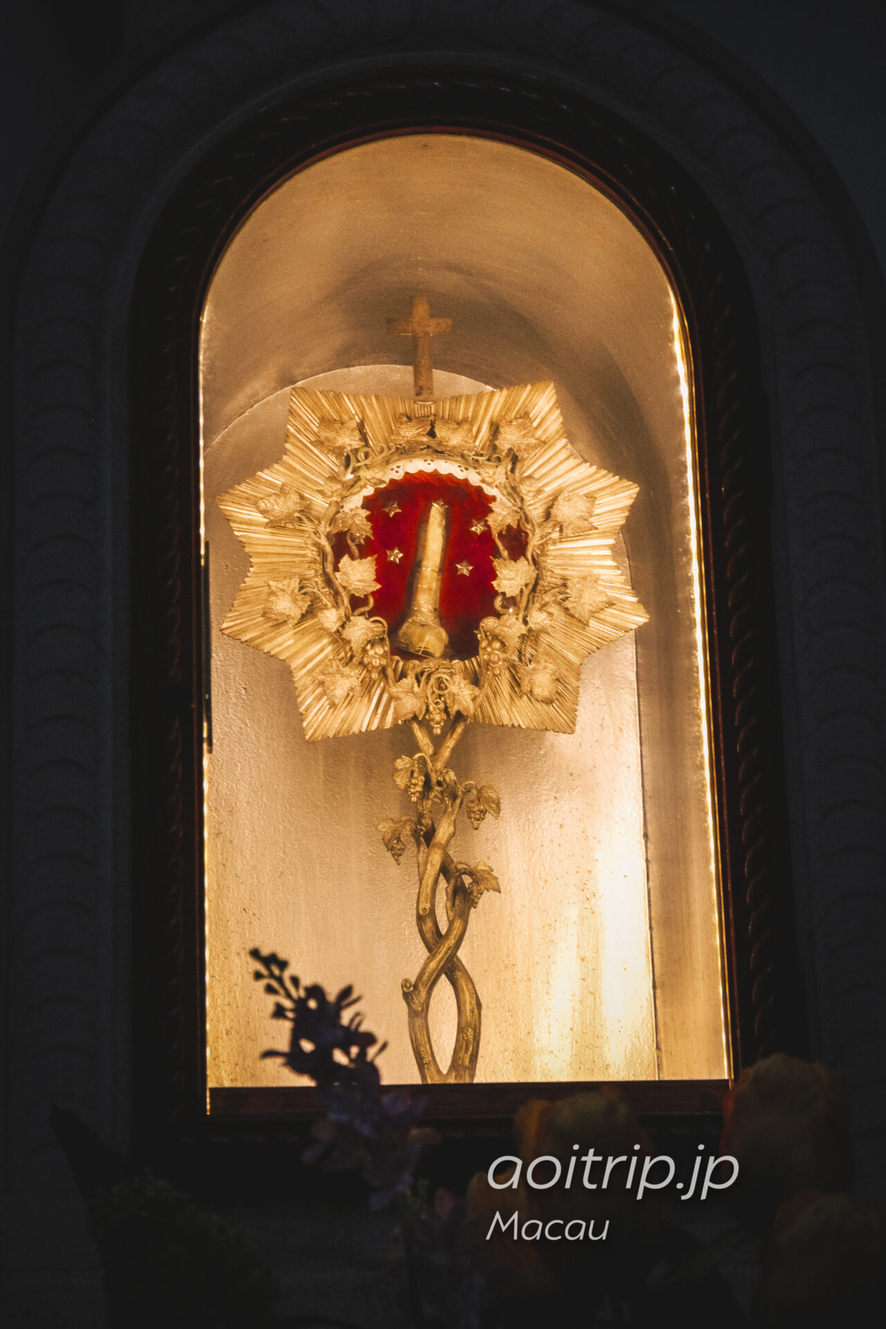 マカオの聖ヨセフ修道院および聖堂にあるザビエルの遺骨
